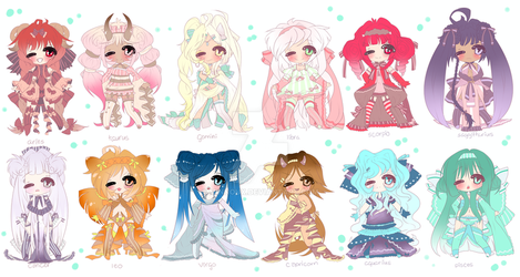 Astrology Adoptables CLOSED by minnoux