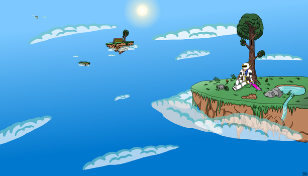 Terraria Wallpaper: Floating Islands by ppowersteef