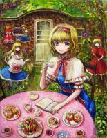 Alice Margatroid Tea party by tafuto001