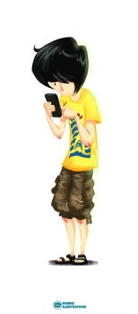 Always-On-The-Phone KH by autumnbrat