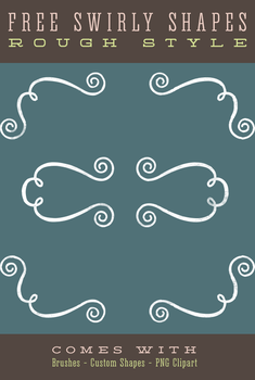 Swirly Frame Border Shapes and Brushes by starsunflowerstudio