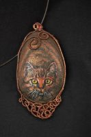 Copper Cat by AstridBruning