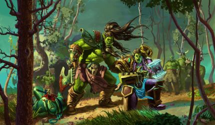 Orcs from warcarft by WhiteRaven017