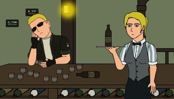 Wesker loves whiskey by Yeti112