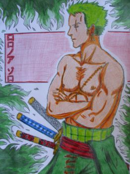 Art Trade: Roronoa Zoro by Koza-Kun