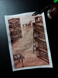 Library by Langustka