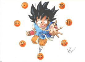 Kid Goku by Draw4fun2