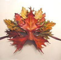 Leather Leaf Mask by Teonova by teonova