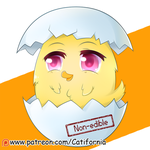 Baby Chicken in a Eggshell by Catifornia