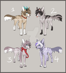 Adoptable Auction Batch (OPEN) by Kingdomwolf13