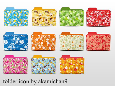 Folder icon set by akamichan9 by akamichan9