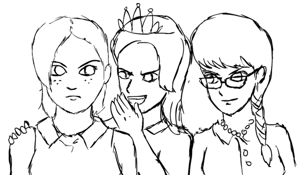 Babs Seed and the Rich Bitches WIP by glue123