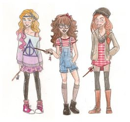 Hipster HP Gals by mox-ie
