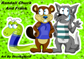 Gift Art - Randall Chuck and Frank by SkunkyNoid