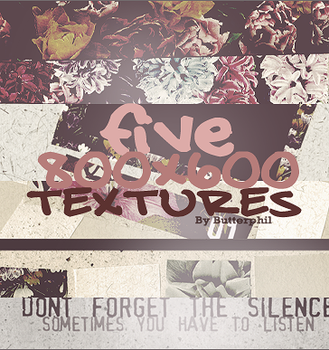 five 800x600 textures by Butterphil