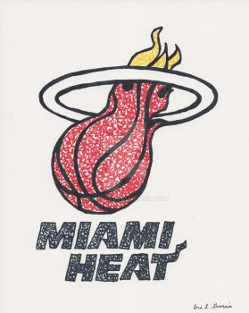 Miami Heat Scribble by bana23