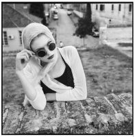 Girl with sunglasses by antoanette