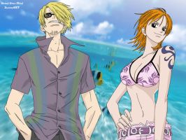 Sanji and Nami - Tropical by Xpand-Your-Mind