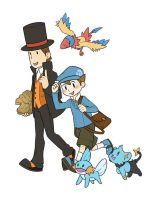 Prof Layton and Trainer Luke by S-Brucket