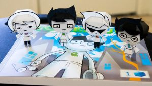 Alpha Kids Homestuck Papercraft by Kittyintheraiyn
