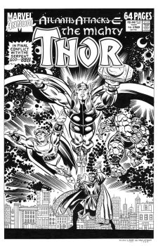 Thor Annual #14 Cover Recreation by dalgoda7