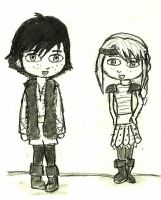 Chibi Hiccup and Astrid by MrsZeldaLink
