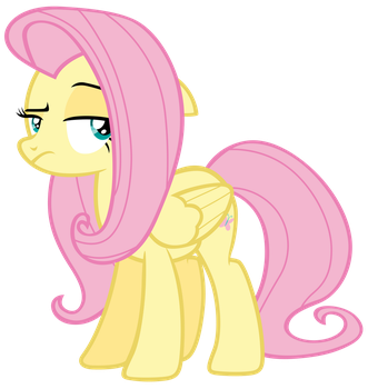 Fluttershy is sceptical by Tardifice
