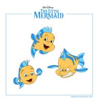 Disney-a-day: Flounder by Halorith