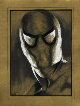 Spider-man:brown paper by gattadonna