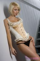 Ivory And Gold Corset by MinaSubmissive