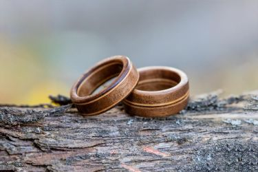Walnut and Maple rings by Pia-CZ