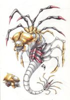 Facehugger Giratina by FlorenceAndTheDragon