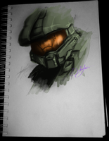 Master Chief by LeRainbowTurtle