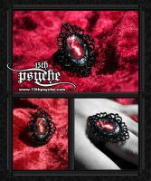 Red Lock Ring by 13thpsyche
