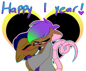 1 Year Anniversary! by SpaazleDazzle