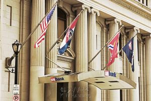 Flags at Bank by kwhammes