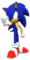 Sonic not so happy render by Nibroc-Rock
