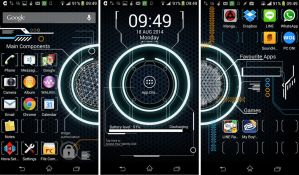 Tron Android Theme by petkanna