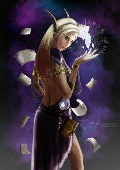 High elf arcane mage by Smaragdia