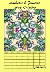 Cover for my 2018 Mandala and Patterns Calendar by LorraineKelly