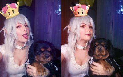 Booette cosplay with little dog by YURK-K
