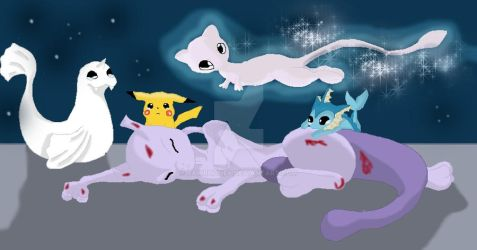 Mewtwo's Death by RAWRHONEY