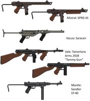 MM!AU: Submachine Guns of the Great War by Soundwave3591