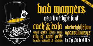 Bad Manners Font by MisterChek