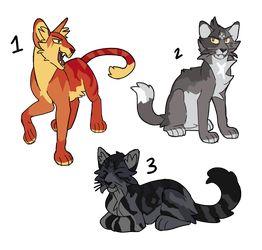 Cat Adoptables - CLOSED by dangersad