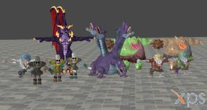 Dragon Quest Heroes Enemies Part 3 For XNALara by user619