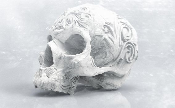 Skull with ornament no1 by boros2