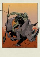 Abe Sapien and the Rhinoceros by Stephen-Green