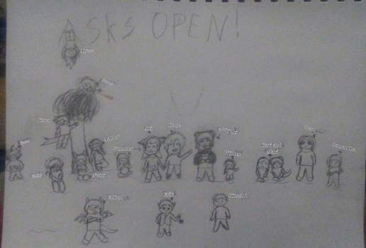 ASKS OPEN! (All Characters) by AkanamiHioshi