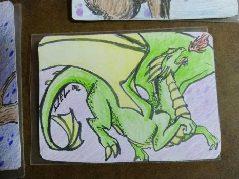 Art drop day 2016 dragon by selkies-song